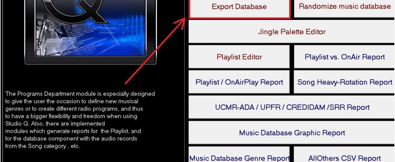 Exportare date din soft studio q